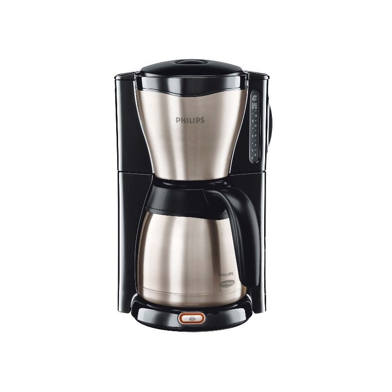 philips cafetiere 1000w therm verseuse metal noir nox. Black Bedroom Furniture Sets. Home Design Ideas