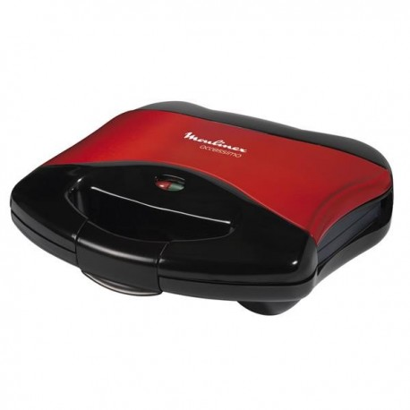 MOULINEX Grilled cheese maker Red Red Black 650W with Anti Adhesive Plates