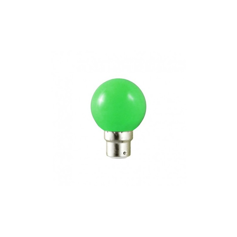 ampoule led b22 bulb opaque vert 1w 9w. Black Bedroom Furniture Sets. Home Design Ideas