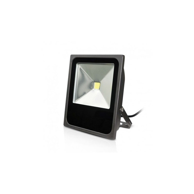 projecteur exterieur led plat gris 80w 6000 k. Black Bedroom Furniture Sets. Home Design Ideas