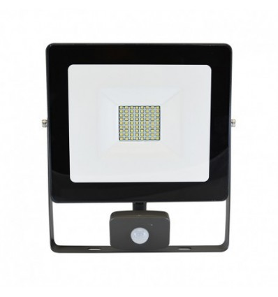 Projecteur plat gris anthracite 50w 450w ip65 led blanc for Projecteur led exterieur 50w