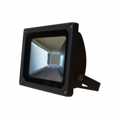 Projecteur plat gris anthracite 20w 180w ip65 led blanc for Projecteur led exterieur 20w