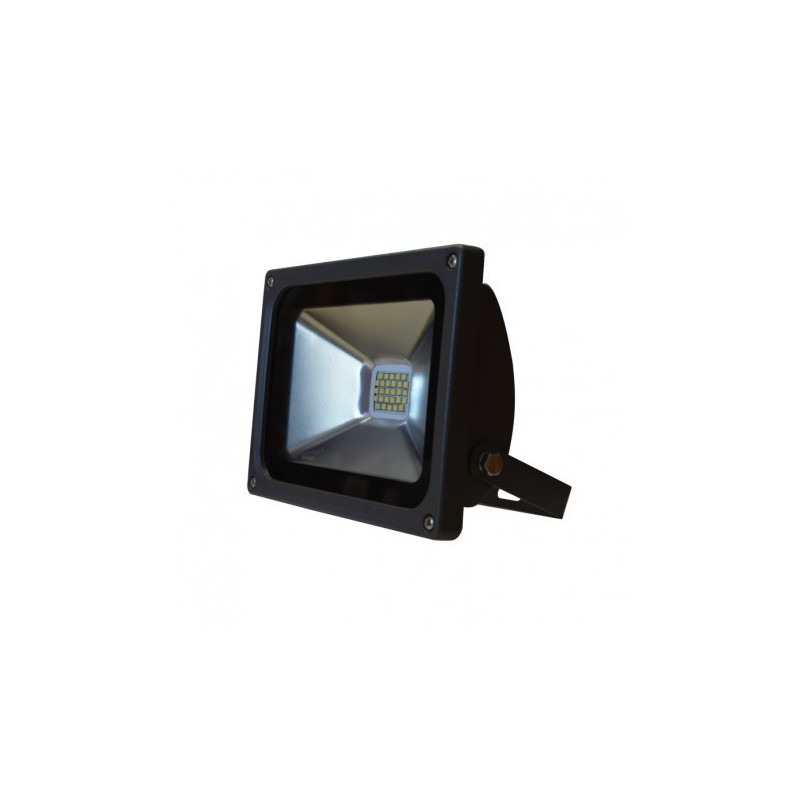 projecteur exterieur led plat gris 20w 3000 k. Black Bedroom Furniture Sets. Home Design Ideas