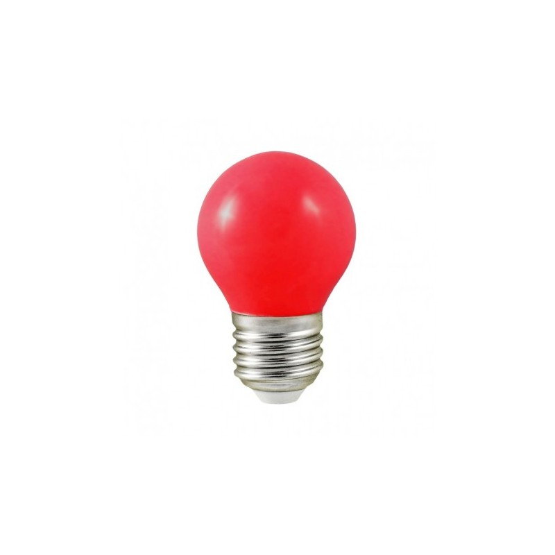 ampoule led e27 bulb opaque rouge g45 1w 9w. Black Bedroom Furniture Sets. Home Design Ideas