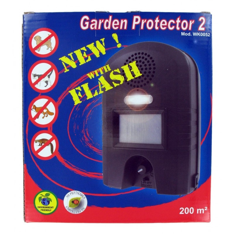 Garden protector 2 r pulsif ultrason flash chien chat lapin - Ultrason pour chat ...