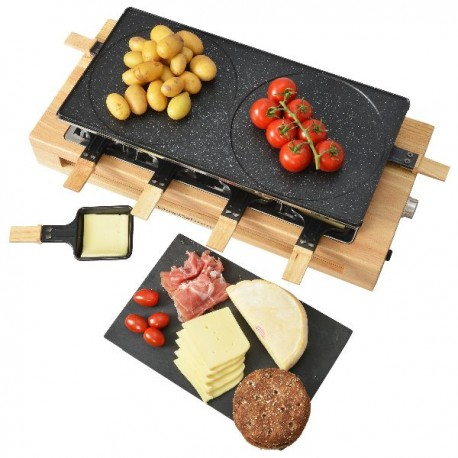 KITCHENCHEF Raclette Appliance Grill 1500W 8pers Grill non-stick pans