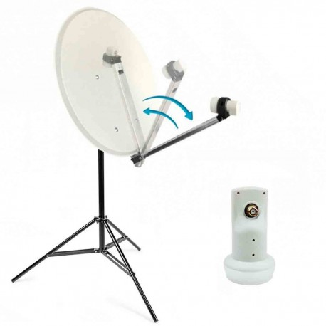 Kit Camping Antenne Satellite 60 cm + Trepied Parabole