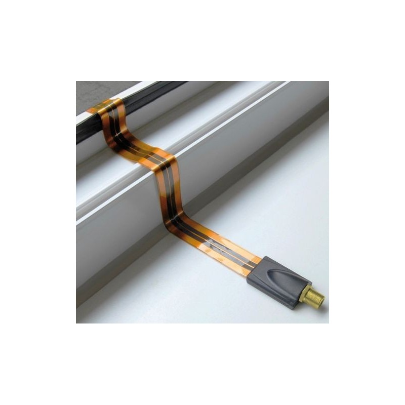 Cable coaxial plat passe fen tre gold tnt satellite for Cable plat passe fenetre