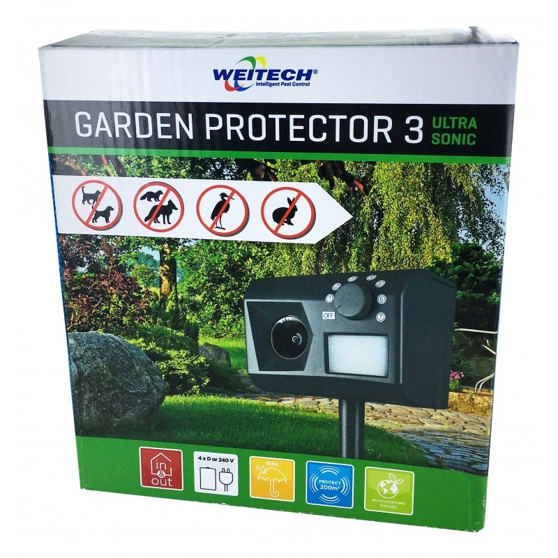 Garden protector 3 r pulsif jardin anti chien chat renard for Anti chat jardin